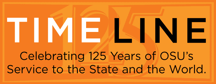 Timeline - Celebrating 125 years of OSU's service to the state and the world